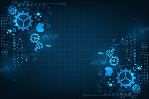 Technology background for gears in mechanical concepts.