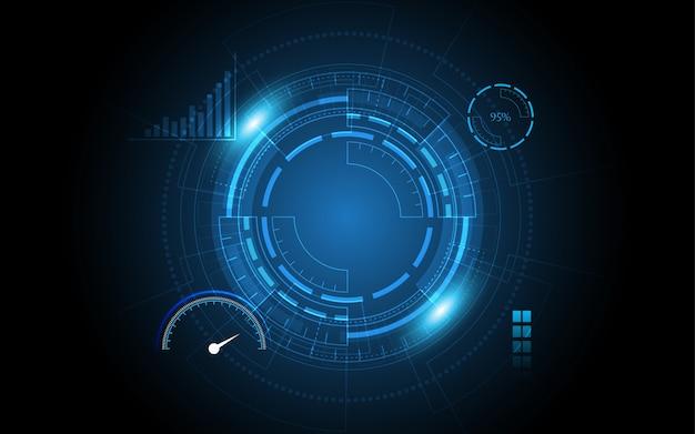 技術の背景ハイテク通信概念革新抽象的な背景