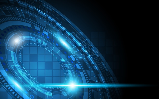 Technology background hi-tech communication concept innovation abstract background