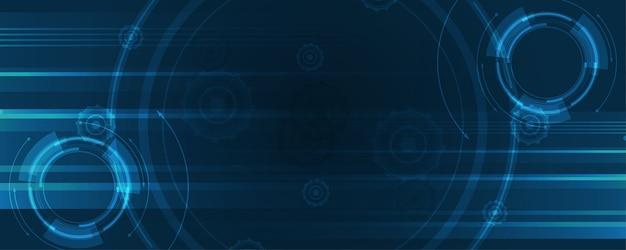 기술 배경 하이테크 통신 개념 혁신 추상적 인 배경