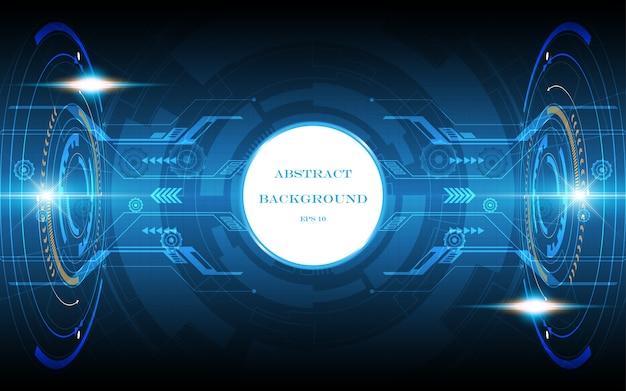 Technology background hi-tech communication concept