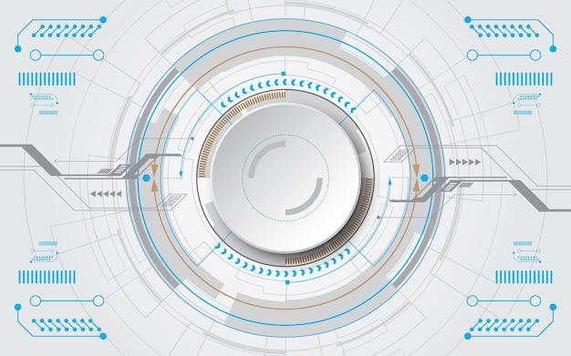 Технологический фон hi-tech коммуникационная концепция