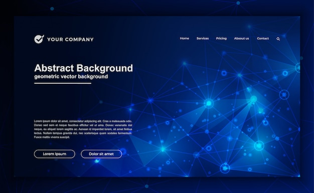 Technology background for landing page design.