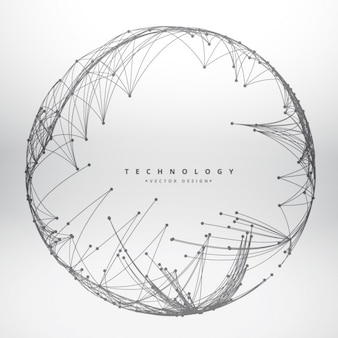 Technology background made with circular mesh