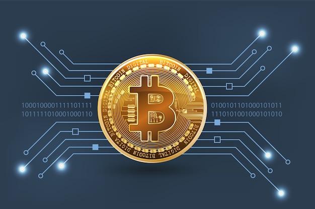 Technology background for money digital.