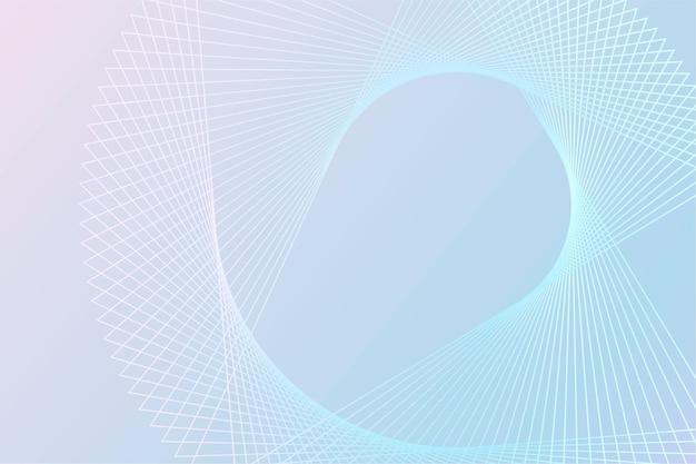 Vettore di sfondo tecnologico con motivo wireframe a spirale in tonalità blu