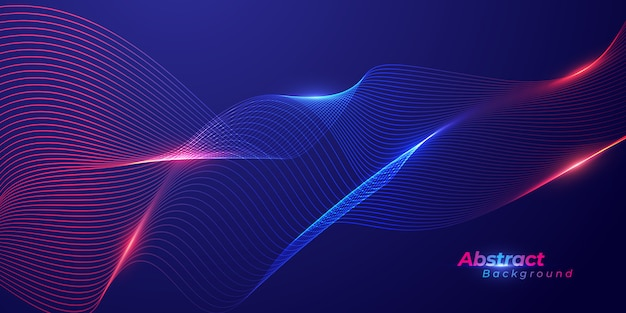 Technology background with abstract lines wave background.