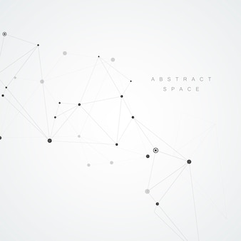 Technology background with abstract molecules