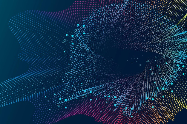 Technology background with abstract wireframe in blue tone