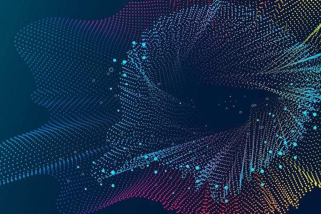 ブルートーンの抽象的なワイヤーフレームと技術の背景