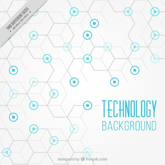 Technology background with blue circles