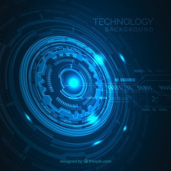 Technology background with blue color