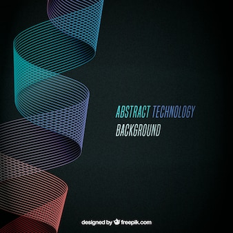 Technology background with colorful lines