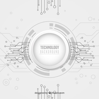 Technology background with dots ans lines