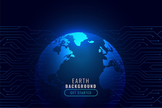 Technology background with earth shape