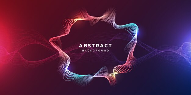Technology background with futuristic abstract glowing waves