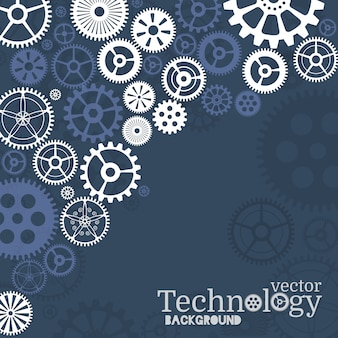 Technology background with gear wheel
