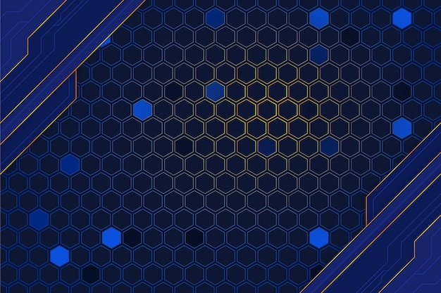 Technology background with honeycomb lights