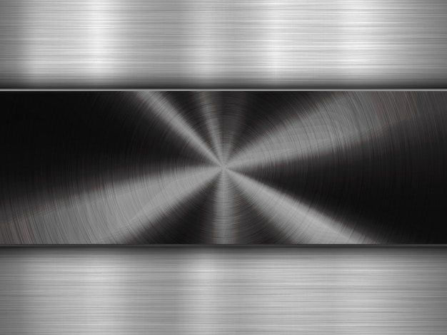 Technology background with metal circular brushed textured