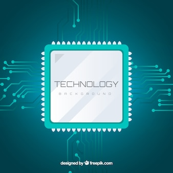 Technology background with microchip