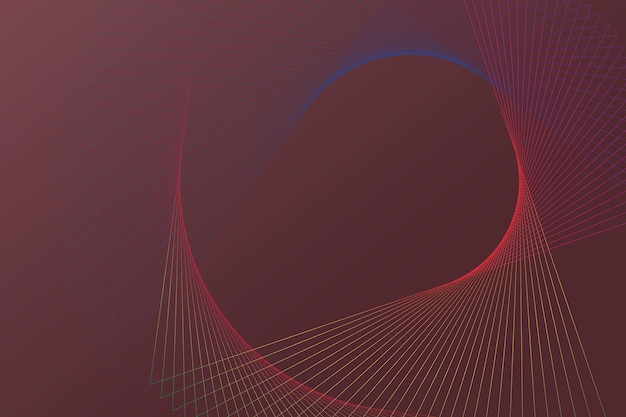 Technology background with spiral wireframe pattern in red tone