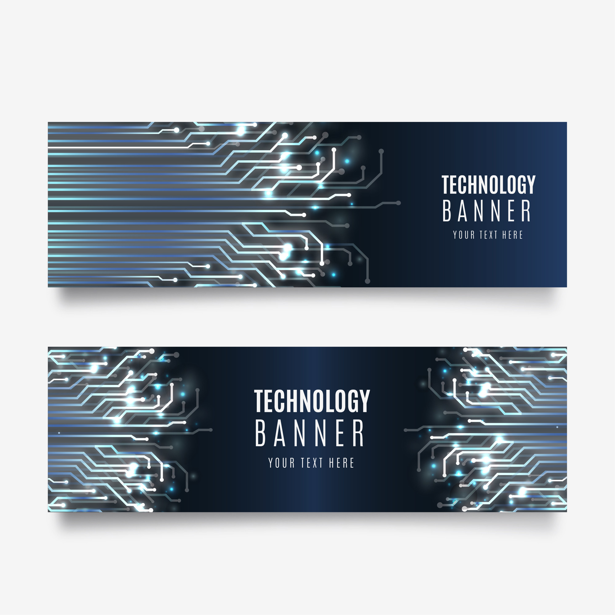 Technology banner collection