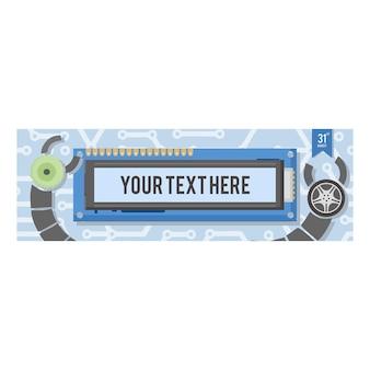 Technology banner design template