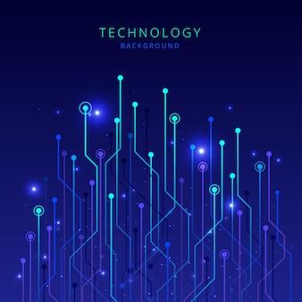 Technology big data gradient background