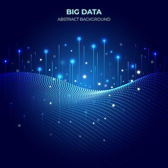 기술 큰 데이터 그라데이션 배경