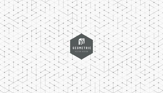 Технология черно-серая технология дизайна гексагонального стиля фона.