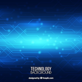 テクノロジー、青、光沢のある背景