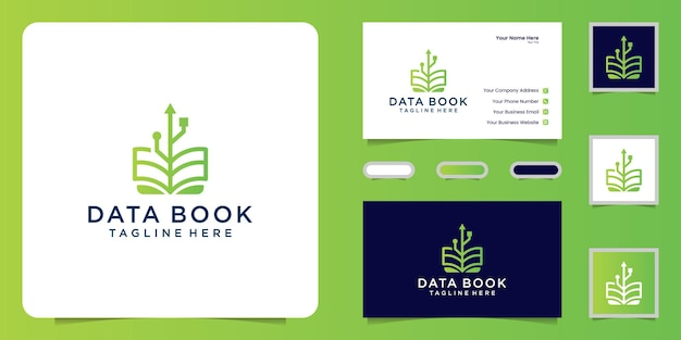 Technology book design logo and business card inspiration