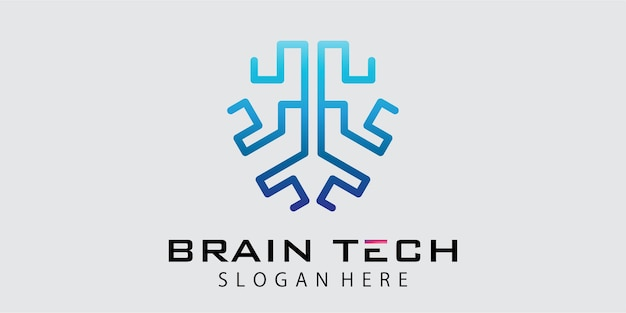 Technology brain logo design