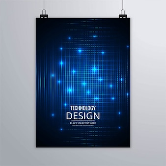 Technology brochure with blue lights