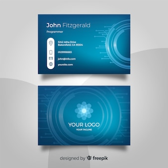 Technology business card template