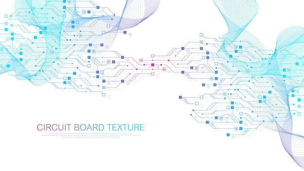 Текстура печатной платы технологии