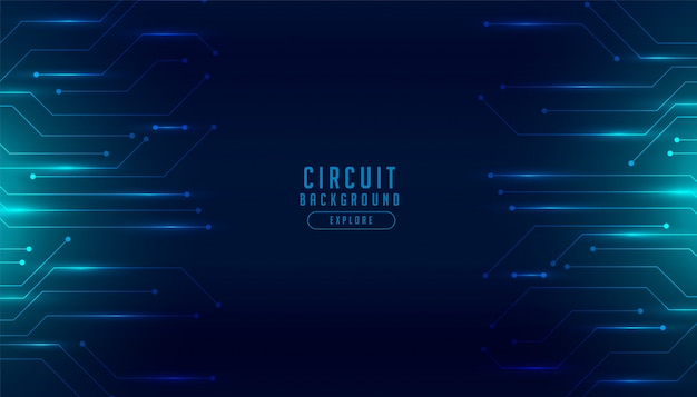 Technology circuit diagram digital futuristic background