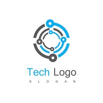 テクノロジーサーキットのロゴテンプレート