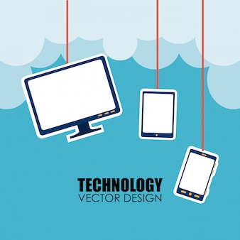 Technology over cloudscape