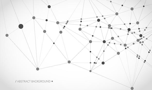 技術コンセプト接続線とドットネットワークサイン幾何学的接続