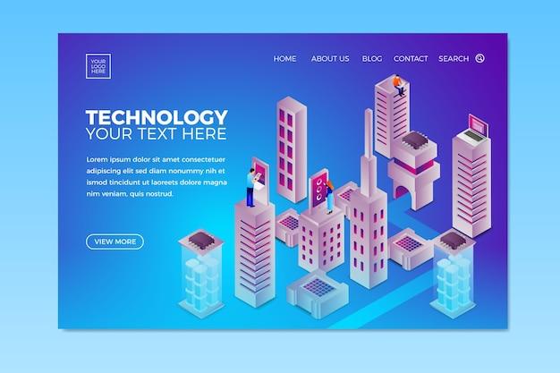 Целевая страница шаблона концепции технологии