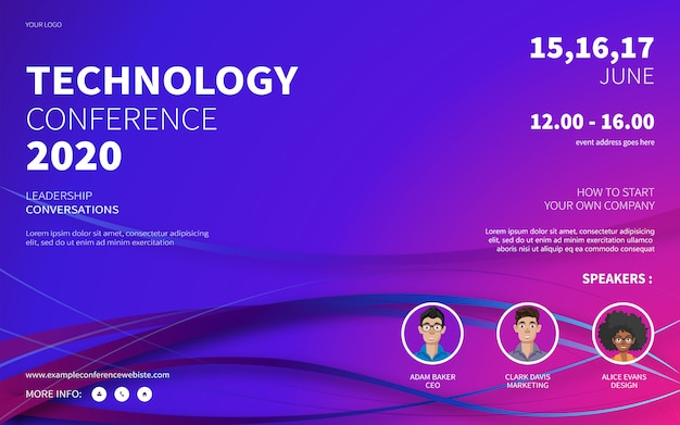Technology conference website poster