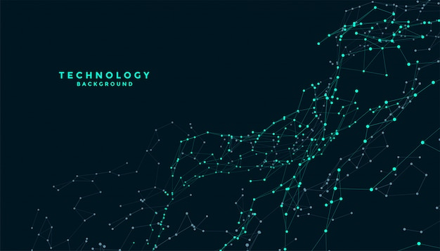 Technology connecting lines mesh digital background design