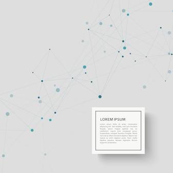 技術接続の背景と抽象的な科学デザイン