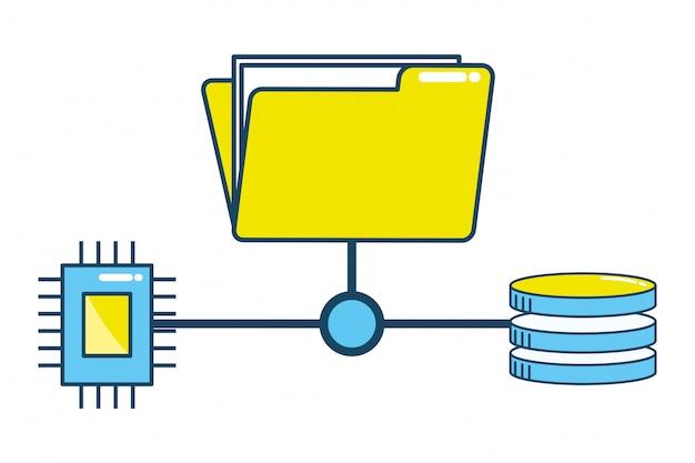 Technology cpu cartoon