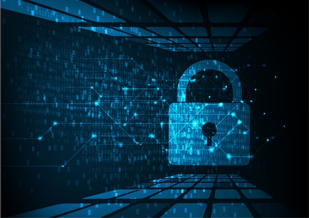 Technology cyber security background