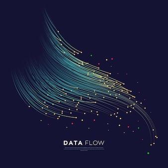 기술 데이터 흐름 배경