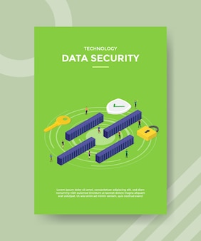 Technology data security flyer template