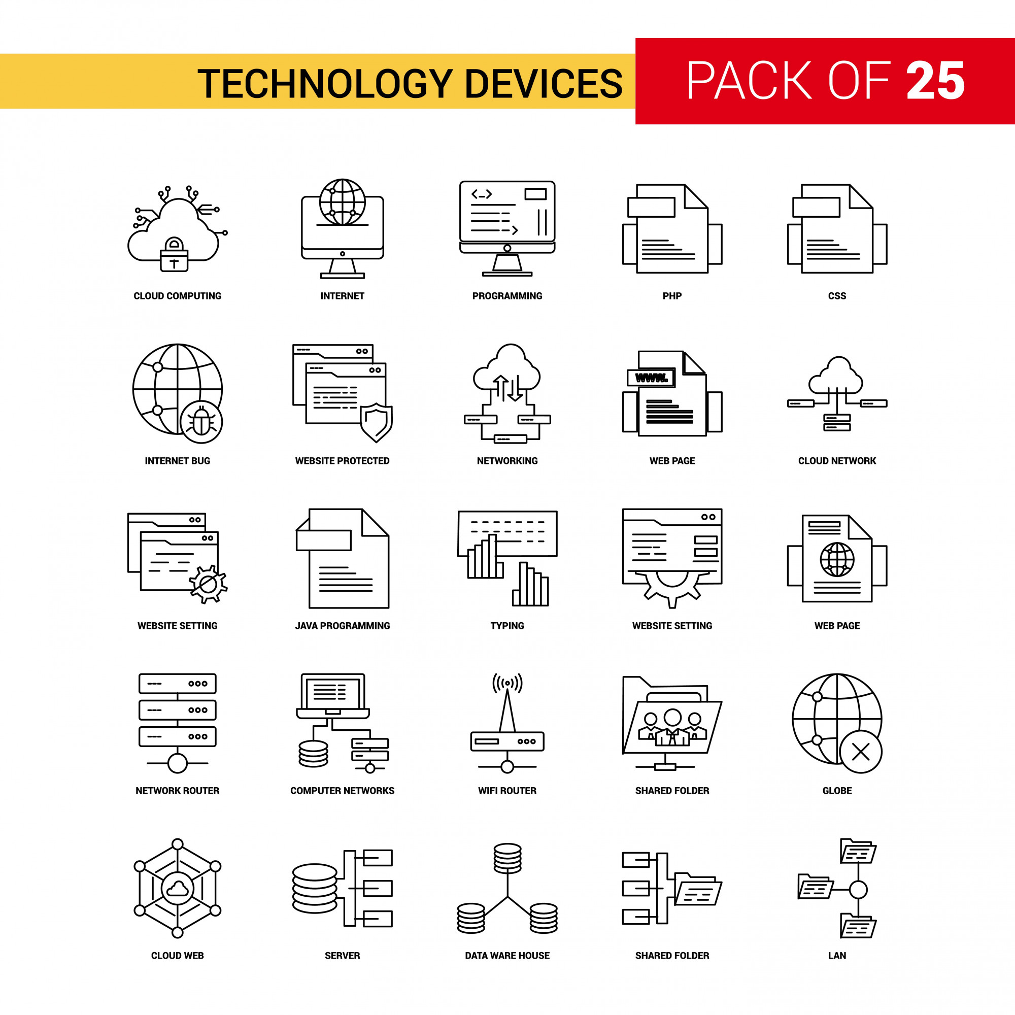 Technology Device Black Line Icon