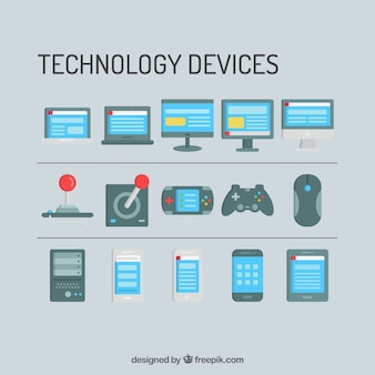 Technology devices and consoles templates Premium Vector